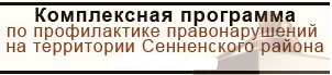 Комплексная программа по профилактике правонарушений на территории Сенненского района на 2018 год